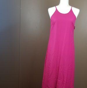 waterfall sleeve less dress.